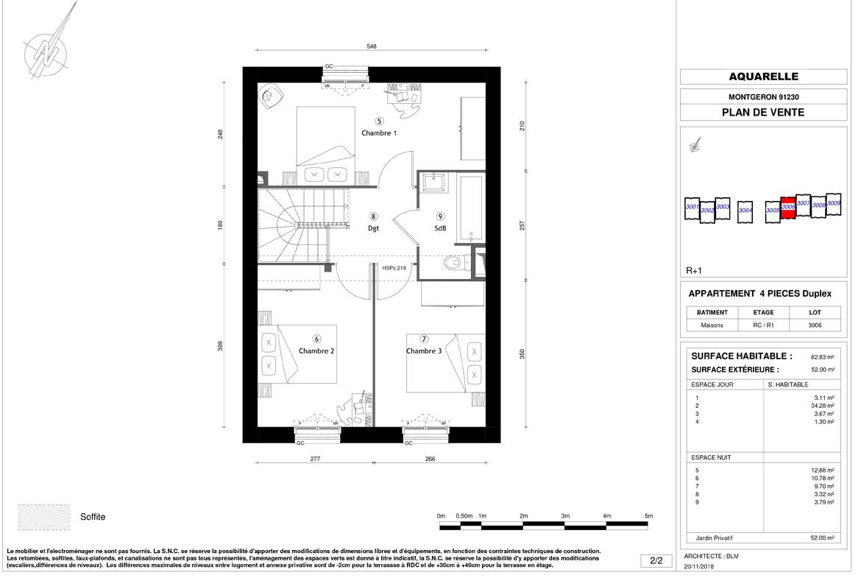 Plan programme immobilier SDM Patrimoine Aquarelle 370K